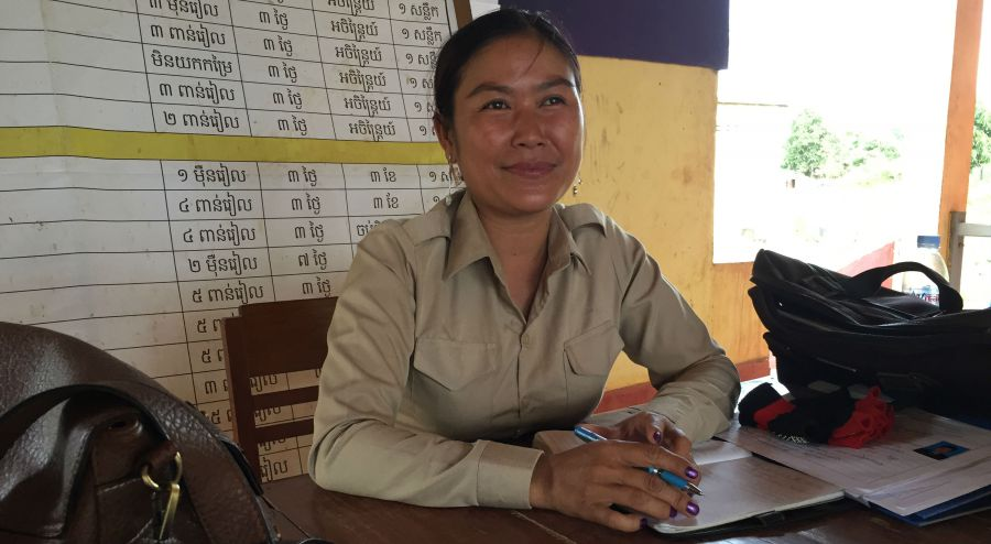 Newly elected Commune Chief in Kratie