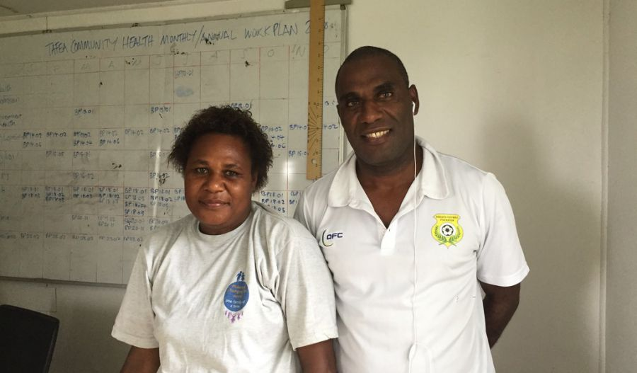 The management team at Lenekal Hospital, TAFEA Province, Vanuatu at the end of a rich consultation meeting.